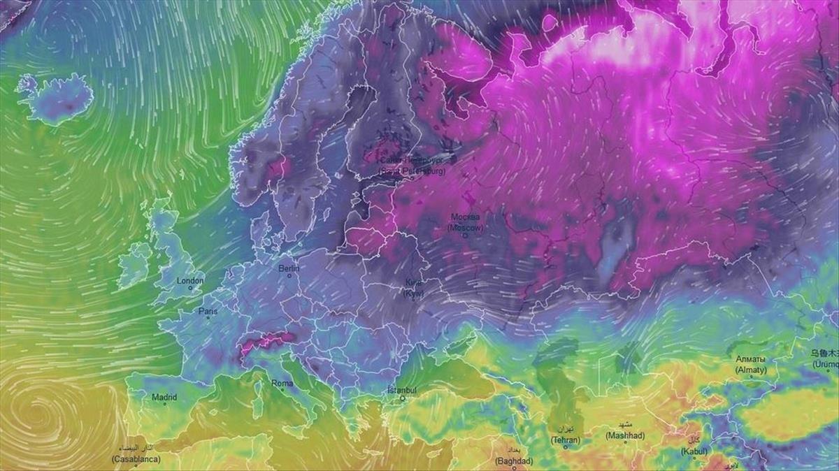 Una ola de frío siberiano está llegando a Europa, se esperan mínimas de -20C.
