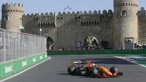Alonso, durante la pasada edición del GP de Azerbaiyán