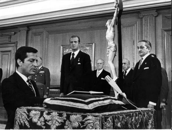 5 de julio de 1976: Suárez jura como presidente del Gobierno en el Palacio de la Zarzuela.