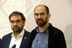 El alcalde de Sabadell, Maties Serracant, en rueda de prensa.