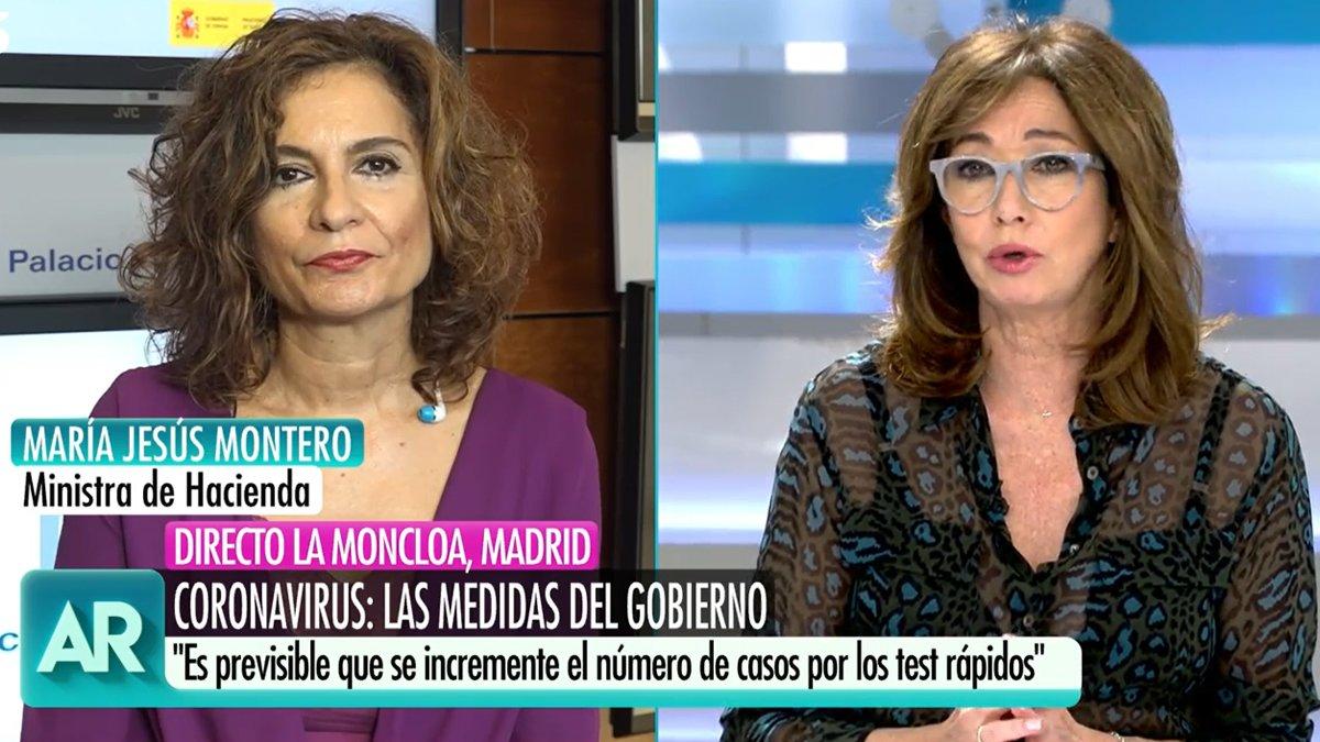 Ana Rosa, a María Jesús Montero: «No és moment de culpar, però han de reflexionar per les marxes del 8-M»