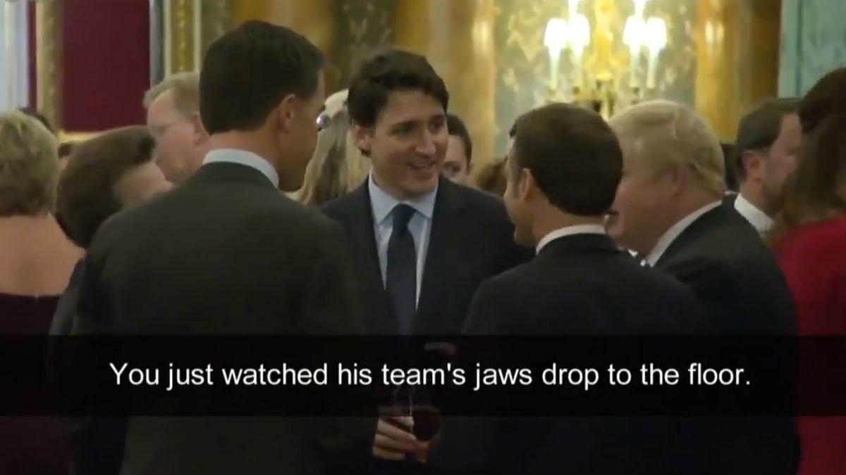 ¿Boris Johnson, Macron, Trudeau y Mark Rutte atrapados burlándose de Donald Trump?