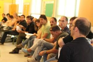 Reunión del consejo político de la CUP, el órgano directivo del secretariado nacional.