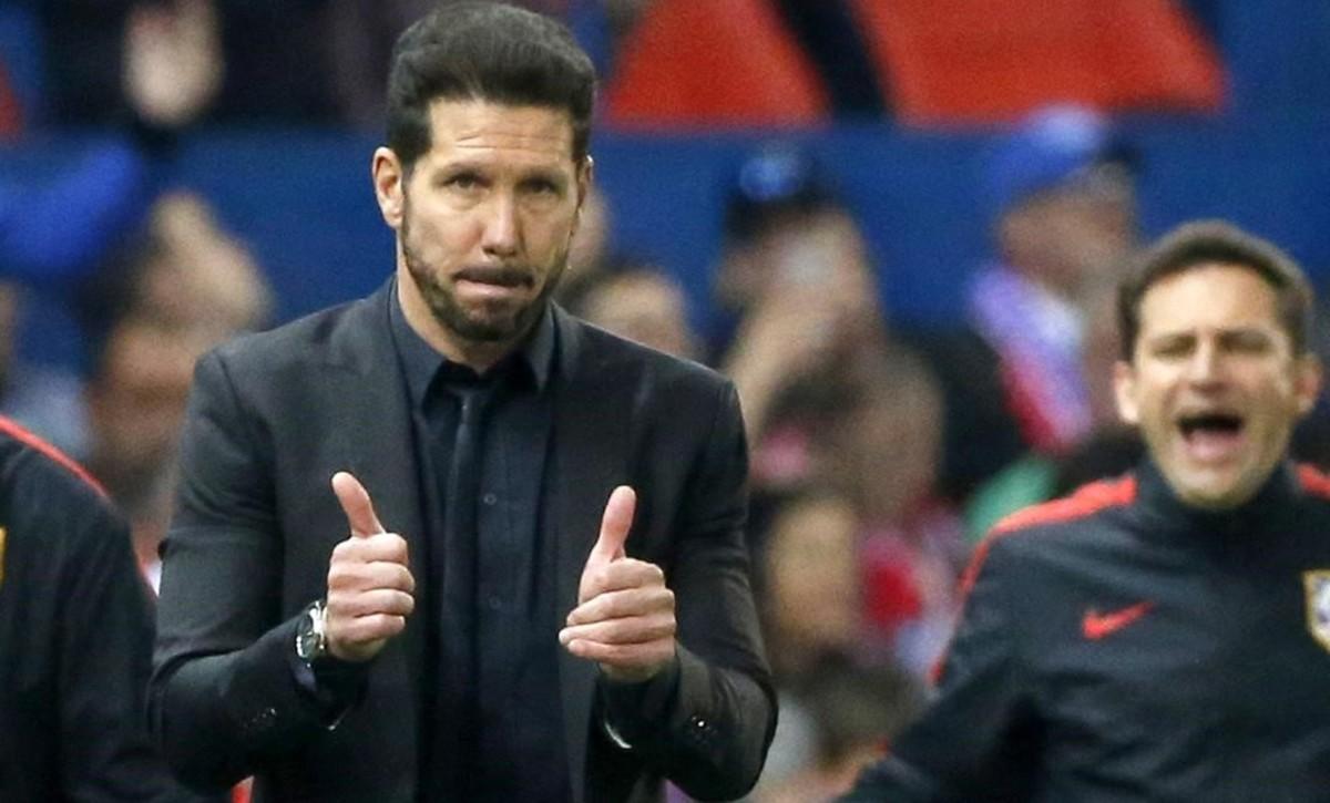 Diego Simeone (46 años), durante el partido entre el Atlético y el Bayern.