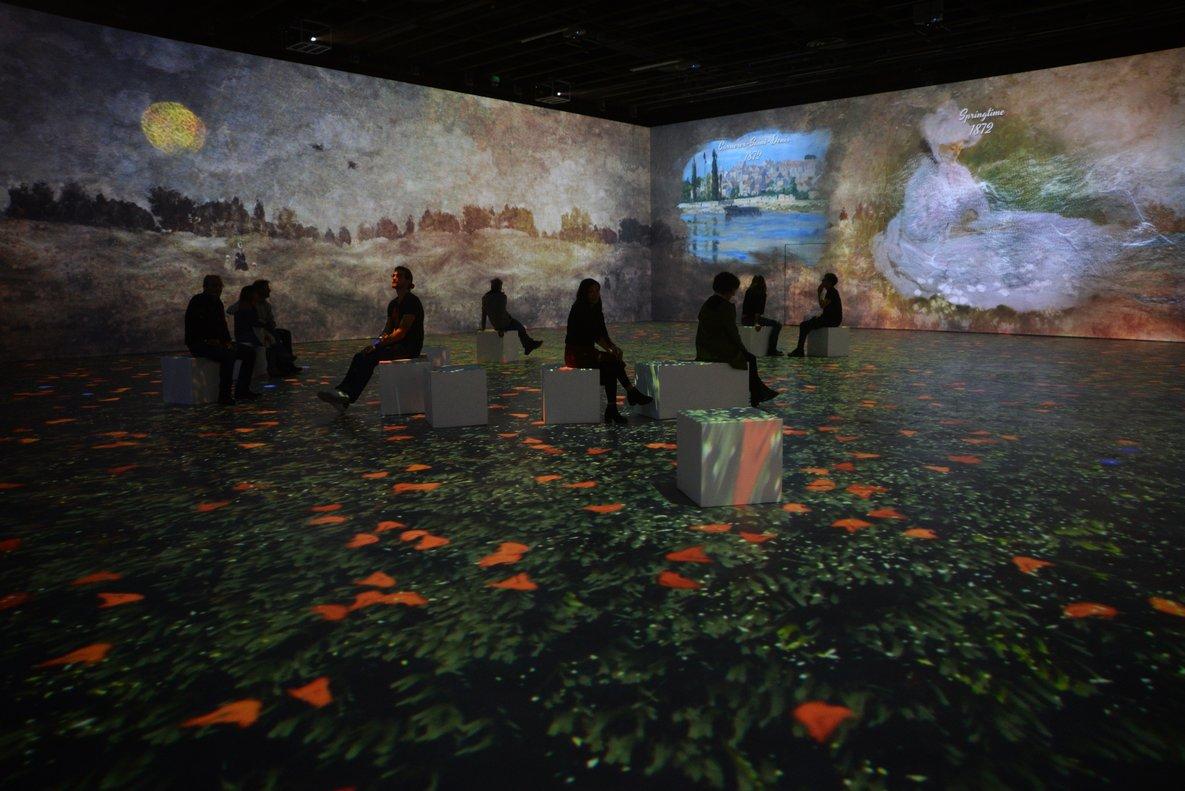 Los visitantes pueden sentirse en medio de un cuadro impresionista.