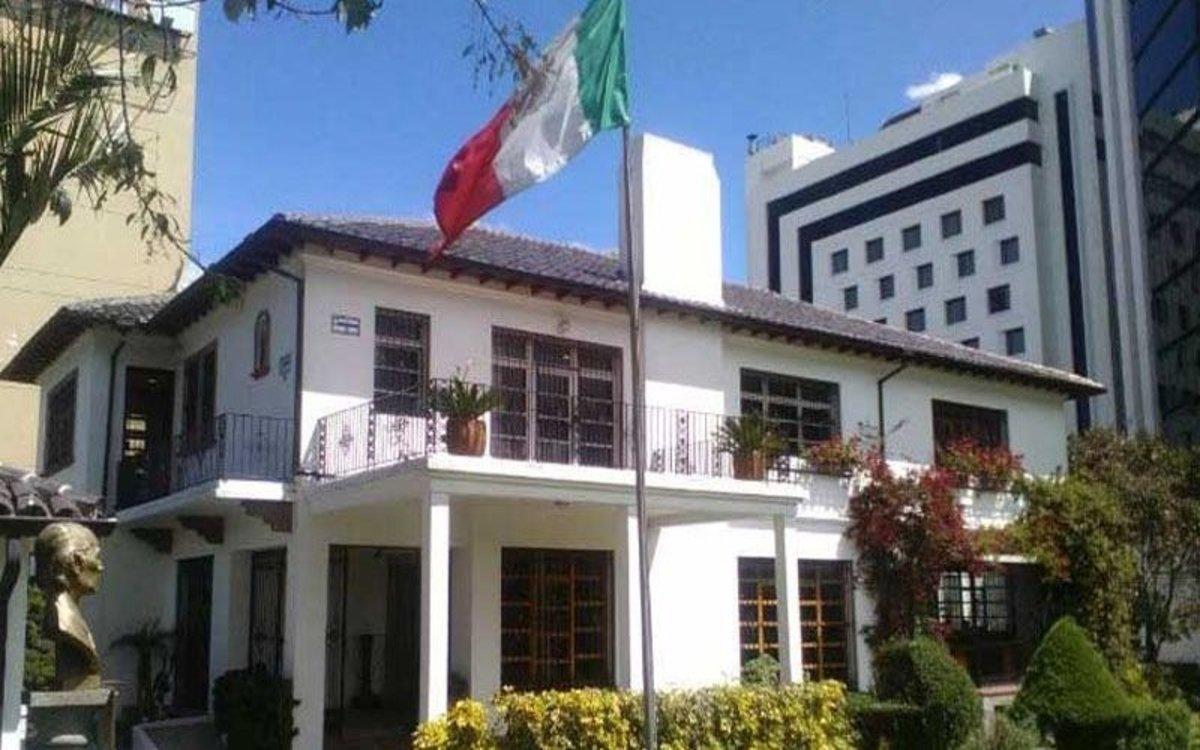 La embajada de México en Ecuador.