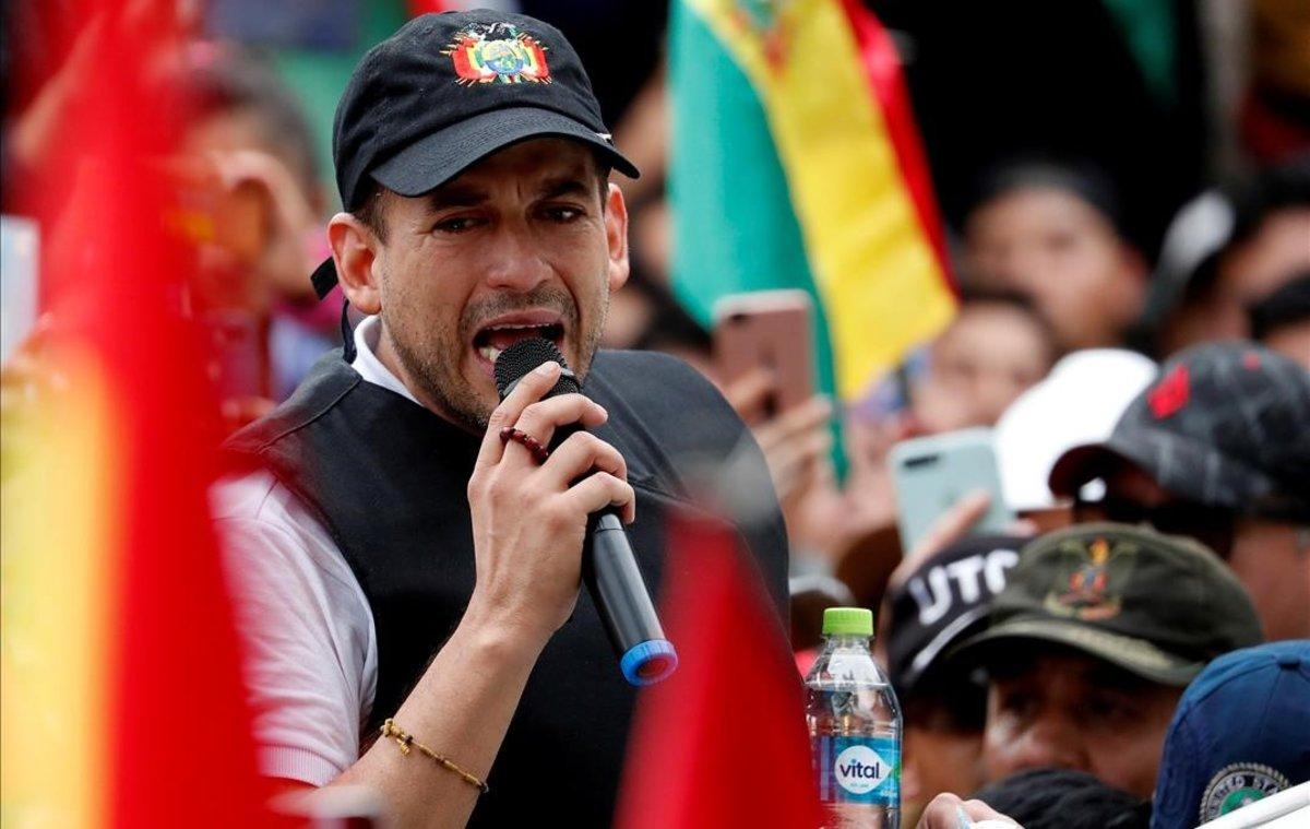 El empresario ultraconservador Luis Fernando Camacho, figura clave en la oposición a Evo Morales.