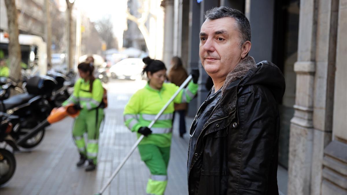 El escritor Manuel Vilas, en Barcelona.