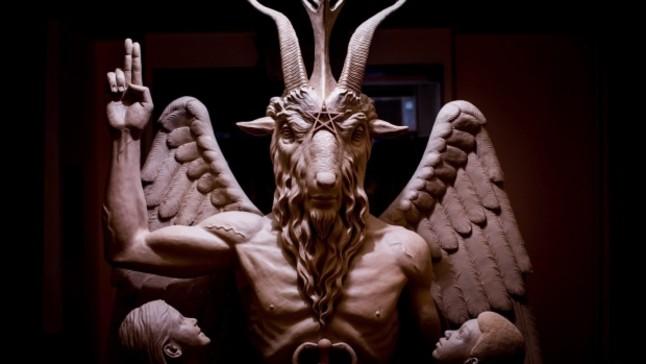 Estatua de Bafomet inaugurada en Detroit.