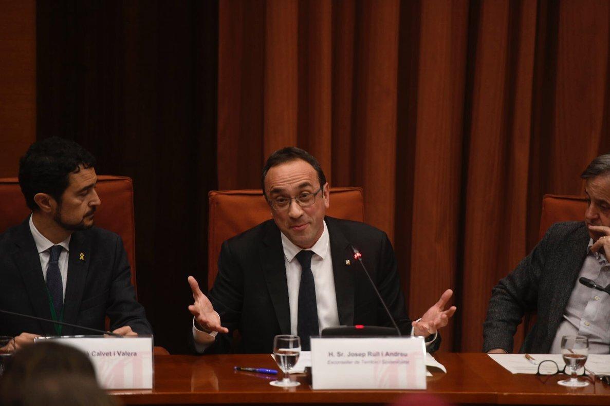 El exconsjero de Territorio y Sostenibilidad de la Generalitat, Josep Rull.