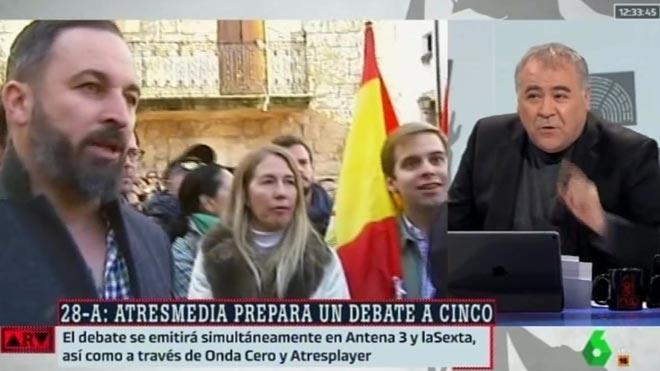 Ferreras explicó el debate a cinco ('ARV').