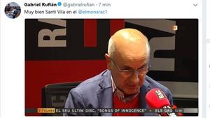 Rufián carga contra Vila y lo equipara con Duran Lleida