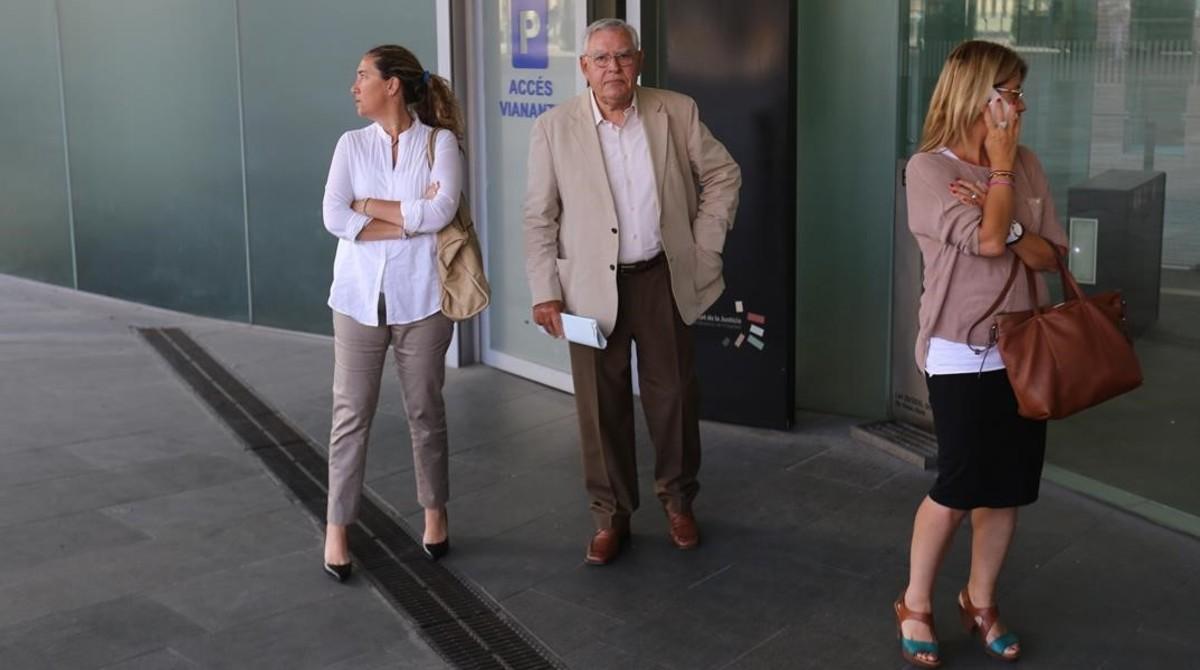 Gemma y Jordi Montull, antes de entrar al juicio por el expolio del Palau de la Música.