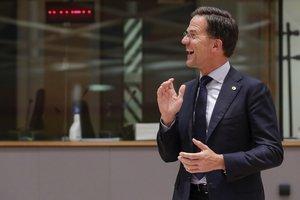 El holandés Mark Rutte, en un momento de la cumbre de la UE.
