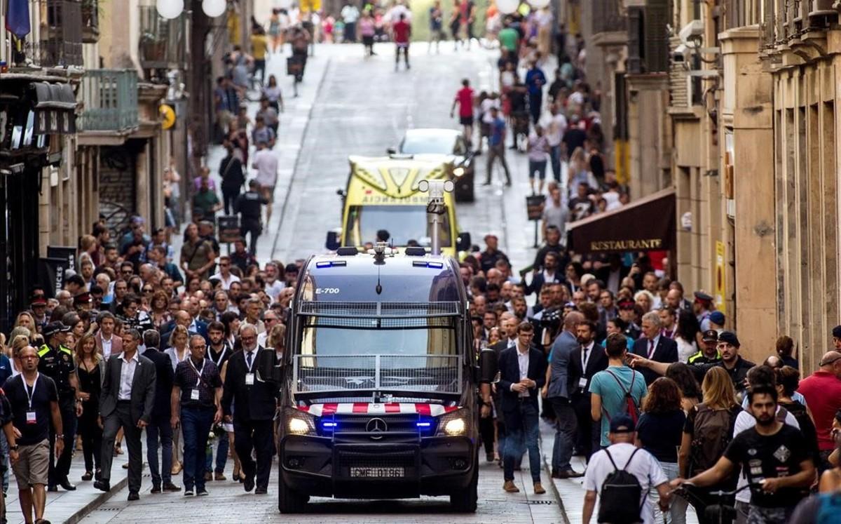 Homenaje a las víctimas de los atentados del 17A.