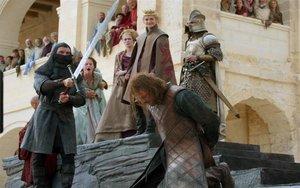 Escena de la exitosa serie Juego de Tronos.