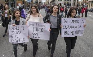 Huelga feminista el Día de la Mujer.