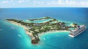 Imagen virtual de la futura isla.