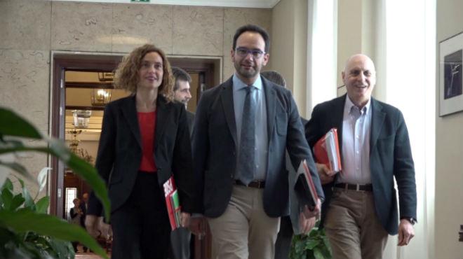 Así les hemos contado la reunión del PSOE, Podemos y Ciudadanos de hoy
