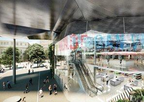 Recreación del nuevo mercado municipal Can Vidalet de Esplugues