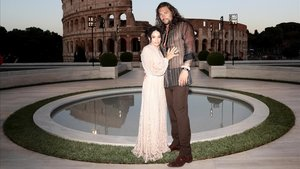 Jason Momoa y su mujer, Lisa Bonet en un cóctel en Italia