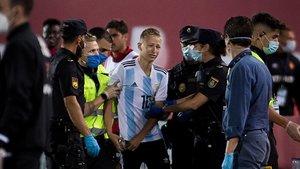 La Lliga anuncia «accions penals» contra l'espontani del Mallorca-Barça