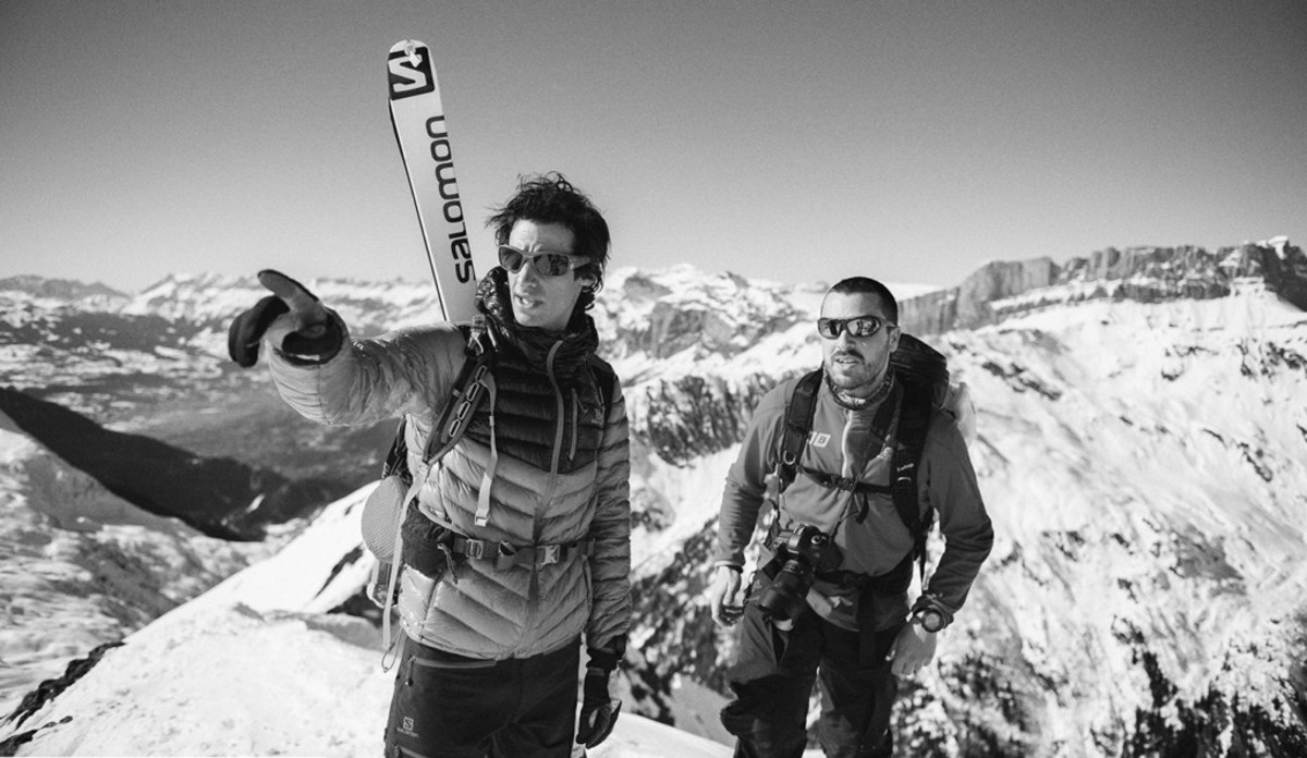 Kilian Jornet y Jordi Saragossa en alta montaña.