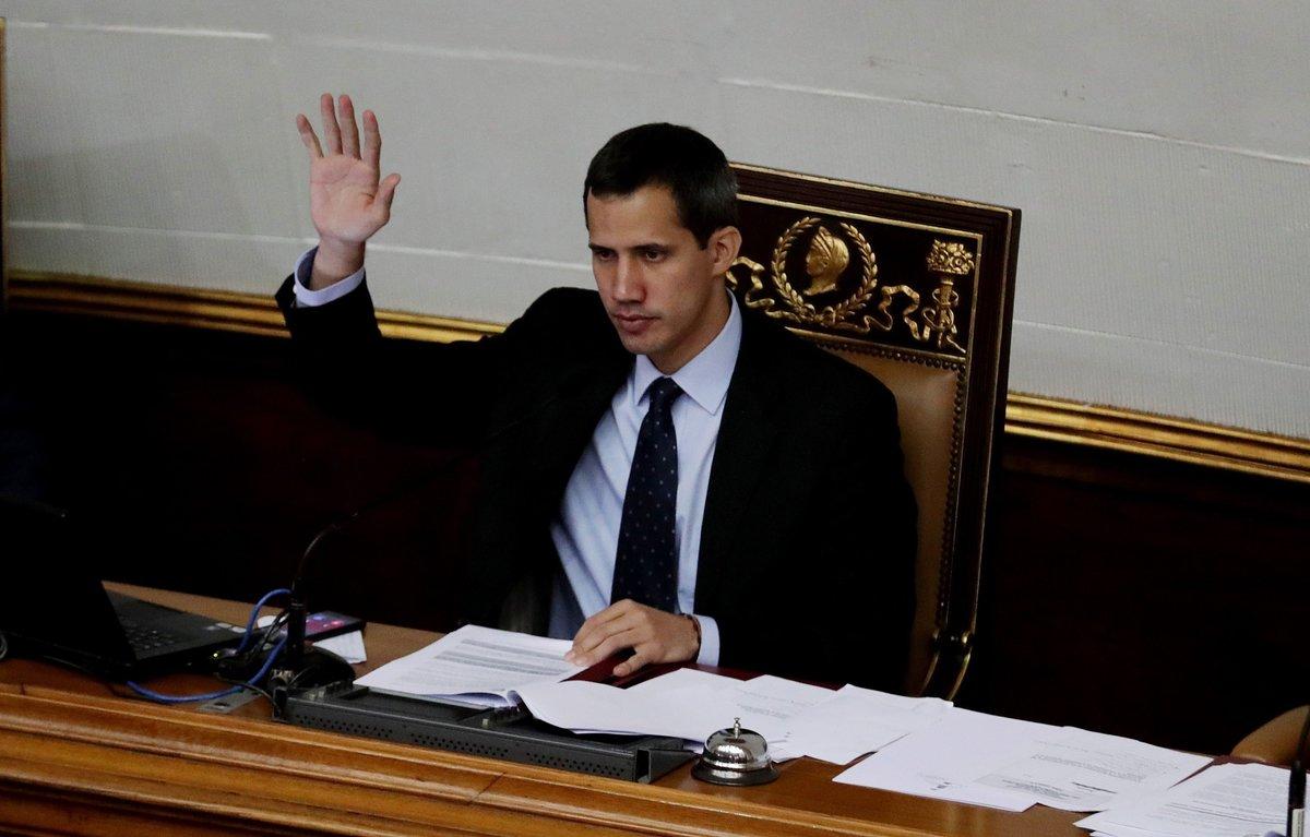 Juan Guaidódurante una sesion de la Asamblea Nacional en el Palacio Federal LegislativoEFELeonardo Munoz