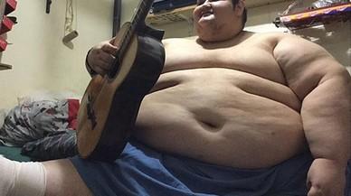 Juan Pedro, que,amb 500 quilos, ja se'l coneix com l'home més obès del planeta.
