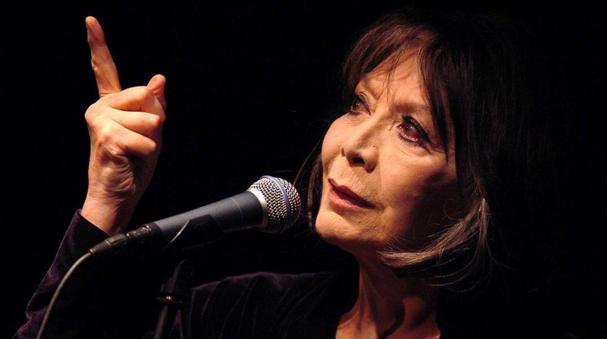 Juliette Gréco, en una actuación en el festival de Montreaux en el 2005.