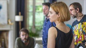 Leticia Dolera, en el rodaje de la serie de Movistar+ Déjate llevar.