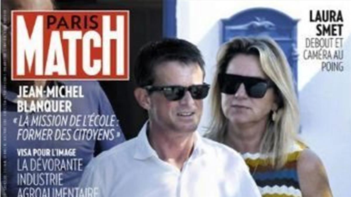 Manuel Valls y Susana Gallardo, en París Match.
