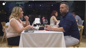 Lorena y Santiago, en su cita en First dates.