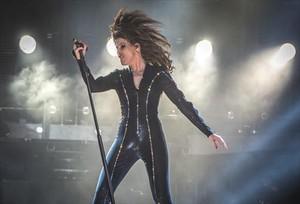 Malú, en un momento del concierto que ofreció el pasado mayo en el Palau Sant Jordi.