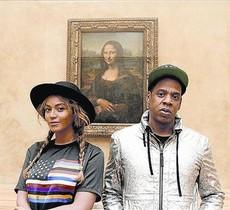 Beyoncé y Jay-Z, frente a 'La Gioconda'.