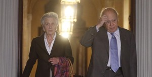 Marta Ferrusola y Jordi Pujol,en el Parlament.