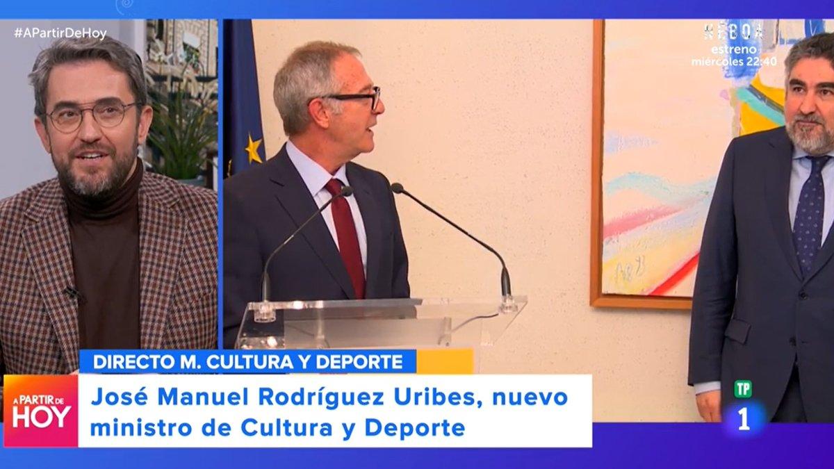 """Máximo Huerta, al compartir pantalla con el nuevo ministro de Cultura: """"No puedo evitar reírme"""""""