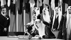 El montaje de la firma de la Carta de las Naciones Unidas en San Francisco en 1945, con Yoda, de Star Wars, junto al rey Fáisal.