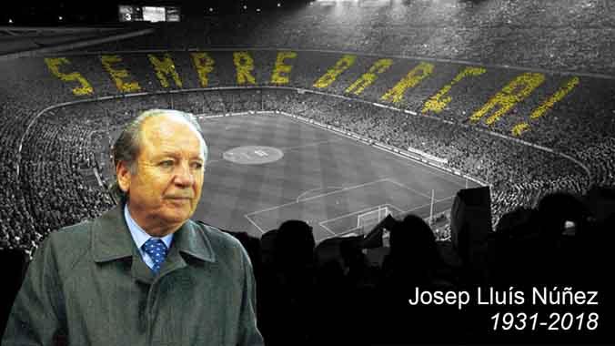 Muere Josep Lluís Núñez, a los 87 años.