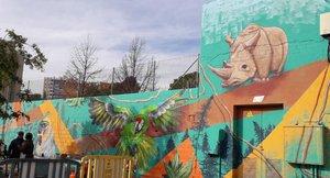 Mural del proyecto 'Pintemos de Derechos Sabadell'.