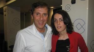 Paco González con Lorena Gallego, interna ahora en un psiquiátrico penitenciario.