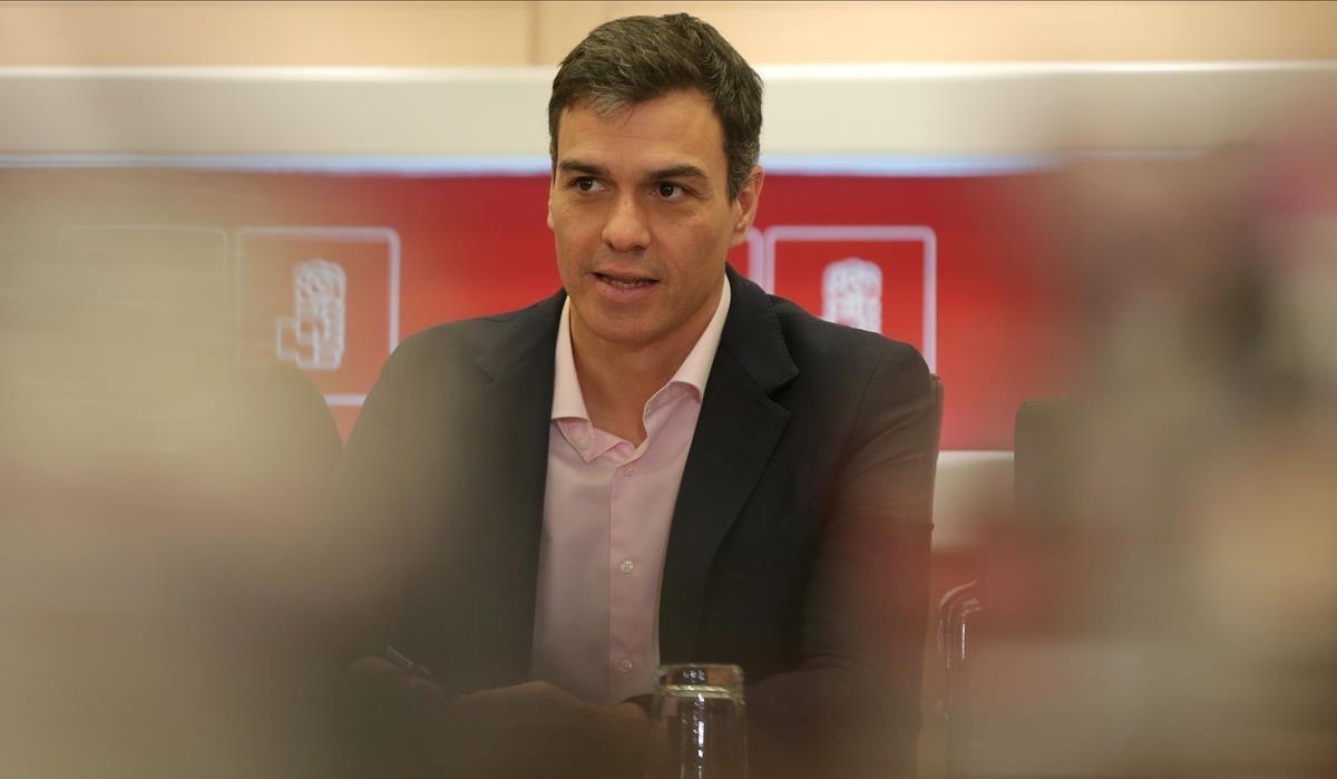 Pedro Sánchez encabeza la reunión permanente del PSOE en Ferraz
