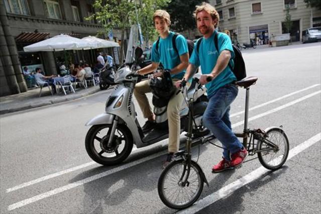 Pierre (izquierda) y Michaud, fundadores de Glovo.