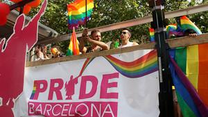 Celebración del Día del Orgullo en Barcelona, el año pasado.
