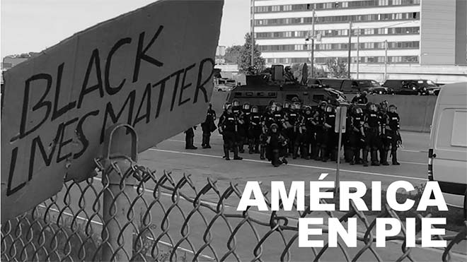 Imágenes de las protestas raciales en Washington y Mineápolis