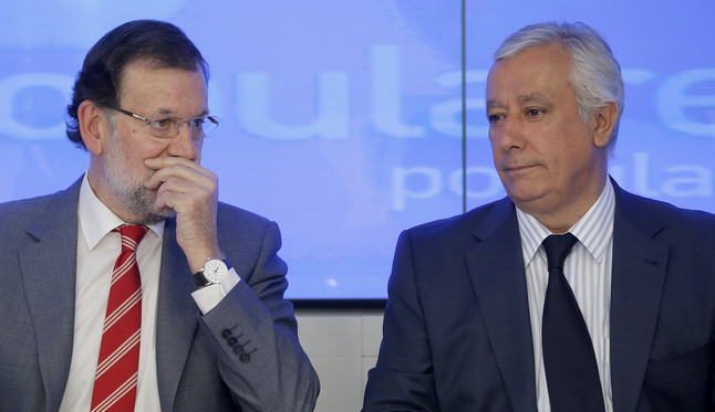 Rajoy y Arenas en el Comité Ejecutivo.