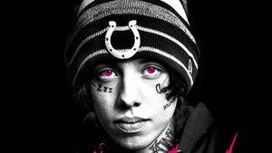 El rapero Lil Xan, en un cartel promocional.