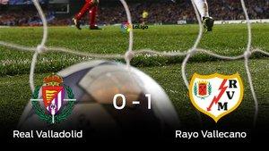 El Rayo Vallecano derrotó a el Real Valladolid por 0-1