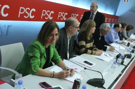 Reunió de l'executiva de PSC a Barcelona.