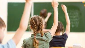 Alumnos en un aula de un colegio de Educación Primaria